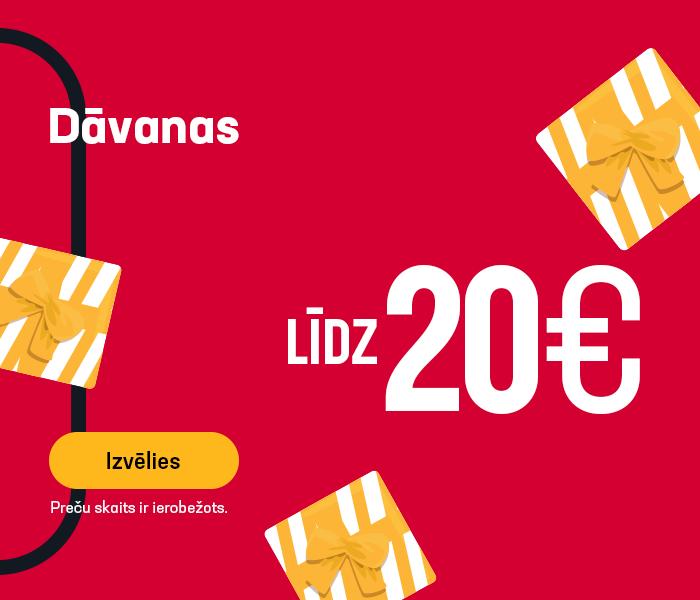 Dāvanas līdz 20 EUR