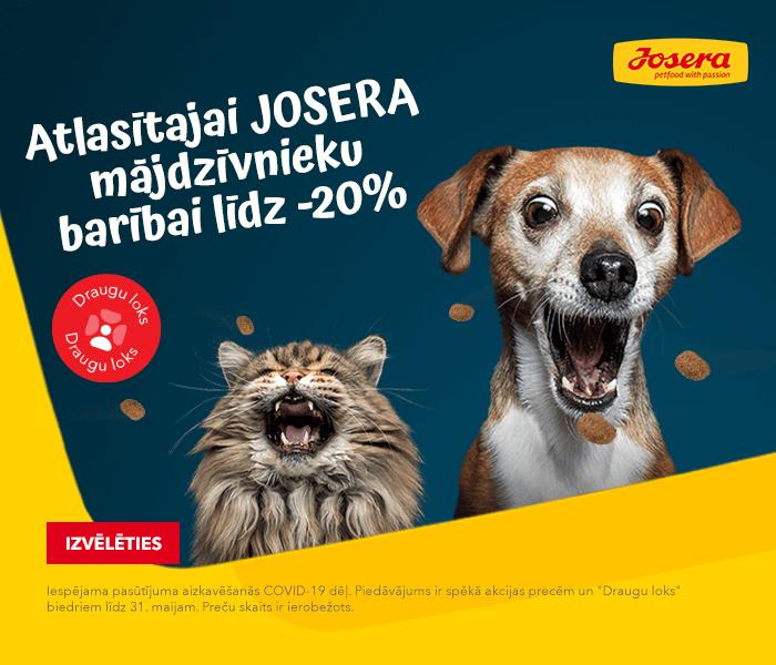 Atlasītajai JOSERA mājdzīvnieku barībai līdz -20%