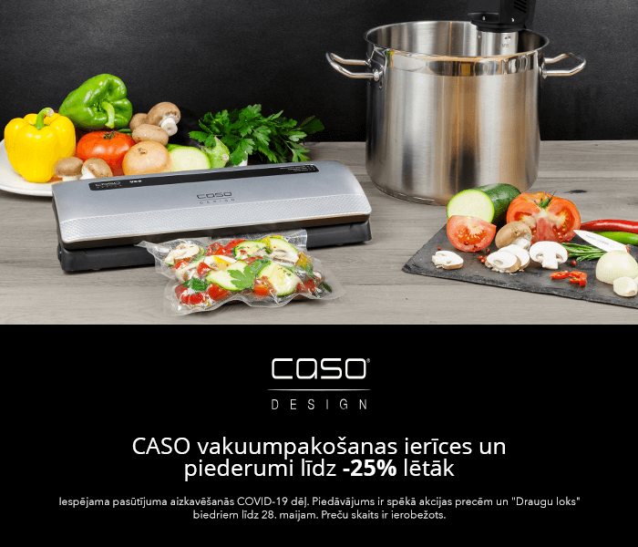 CASO vakuumpakošanas ierīces un piederumi līdz -25% lētāk