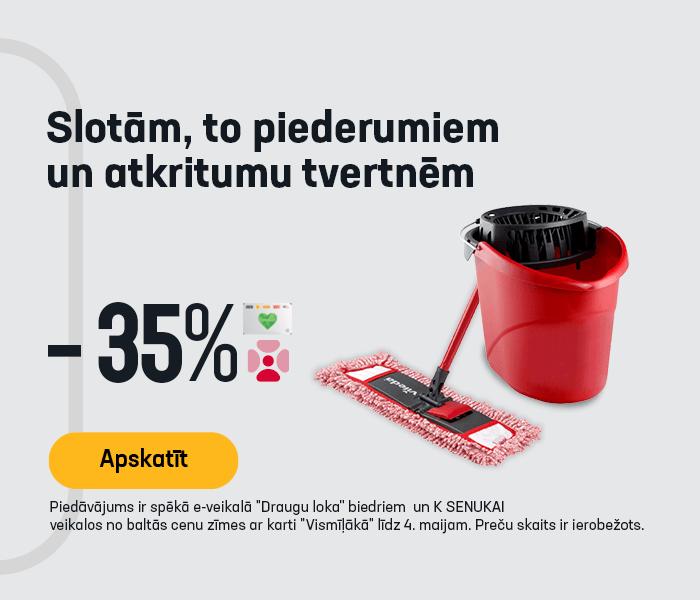 Slotām, to piederumiem un atkritumu tvertnēm -35%