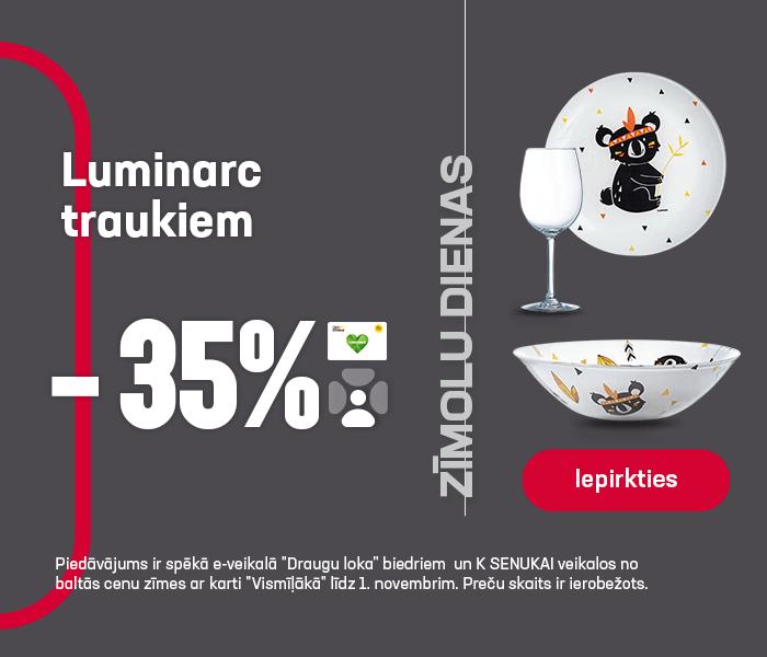 Luminarc traukiem -35%