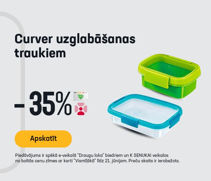 Curver uzglabāšanas traukiem -35%