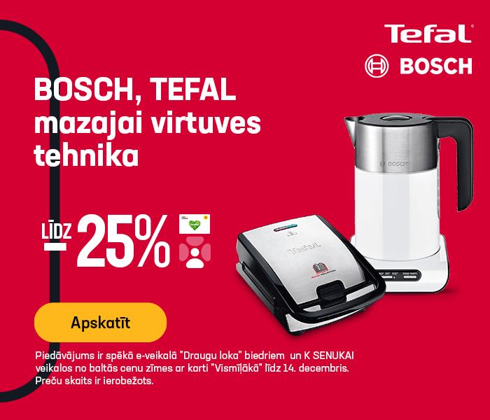 Bosch Tefal mazajai virtuves tehnika līdz -25%