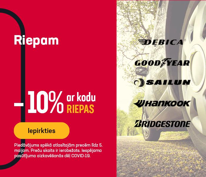 Riepam -10% ar kodu