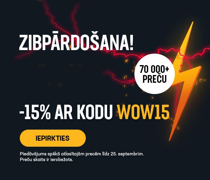 ZIBpārdošana! -15% ar kodu WOW15