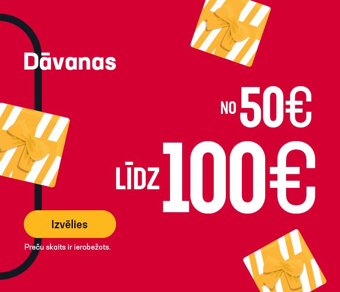 Dāvanas no 50 līdz 100 EUR