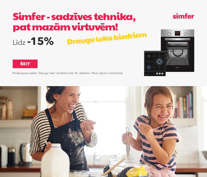 """Simfer - sadzīves tehnika, pat mazām virtuvēm! """"Draugu loka"""" biedriem līdz pat -15%"""