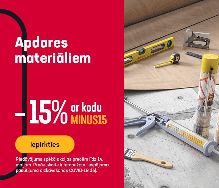 Apdares materiāliem -15% ar kodu