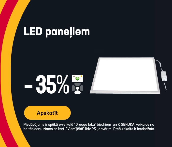 LED paneļiem -35%