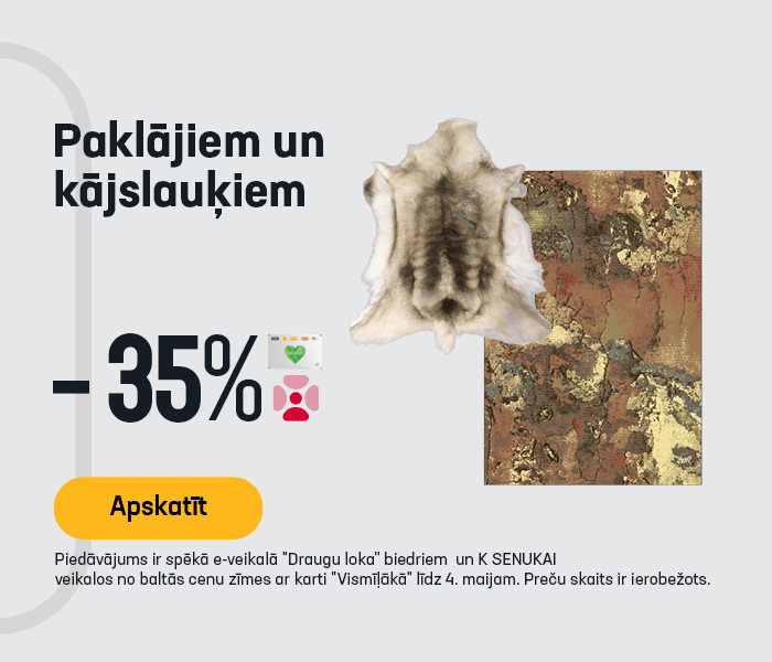 Paklājiem un kājslauķiem -35%