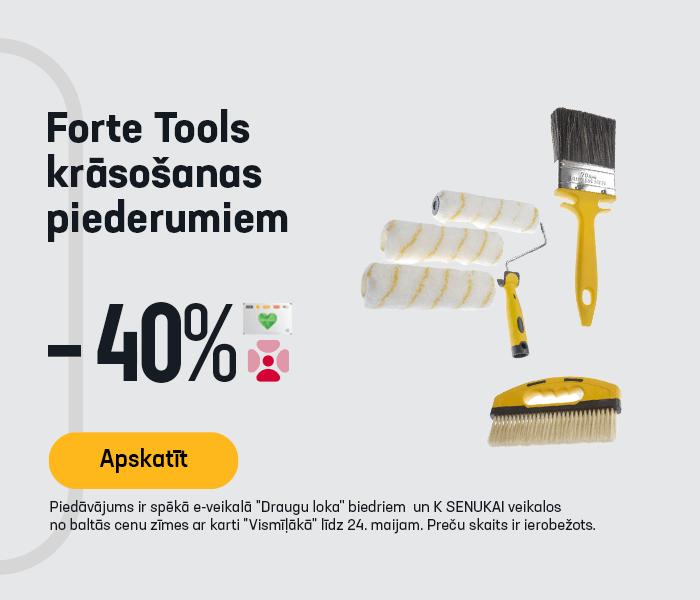 Forte Tools krāsošanas piederumiem -40%