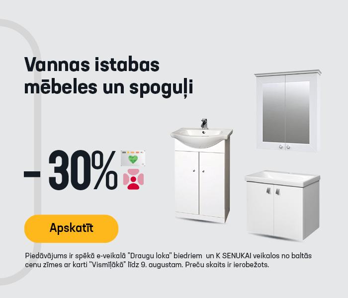 Vannas istabas mēbeles un spoguļi -30%