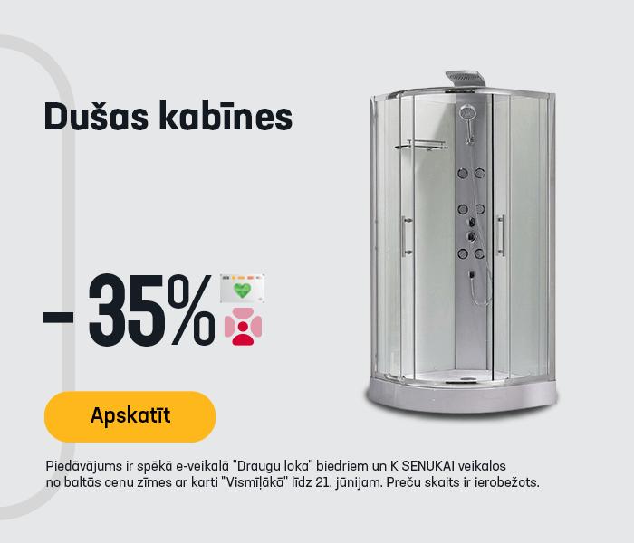 Dušas kabīnes -35%