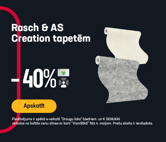 Rasch & AS Creation tapetēm -40%
