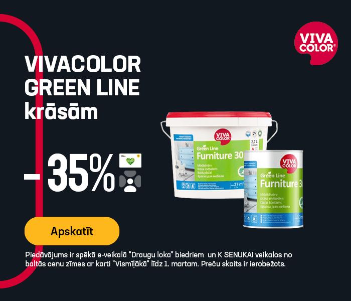 VIVACOLOR GREEN LINE krāsām -35% (bezmaksas tonēšana)