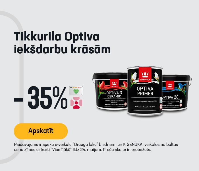 Tikkurila Optiva iekšdarbu krāsām -35%