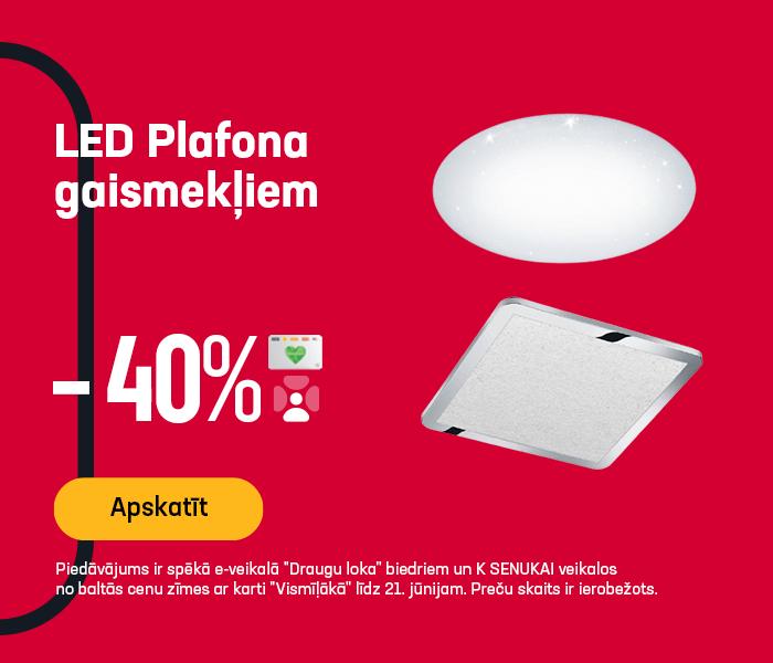 LED Plafona gaismekļiem -40%