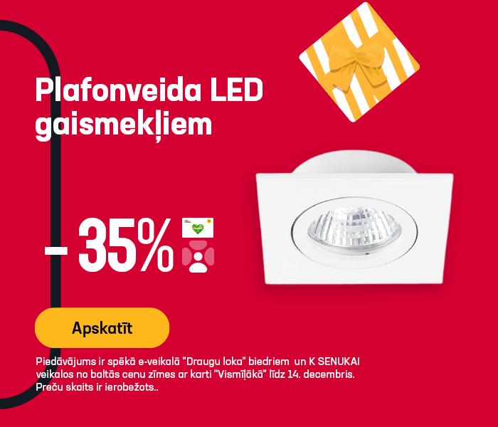 Plafonveida LED gaismekļiem -35% atlaides