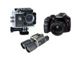 Foto, veiksmo kameros, žiūronai