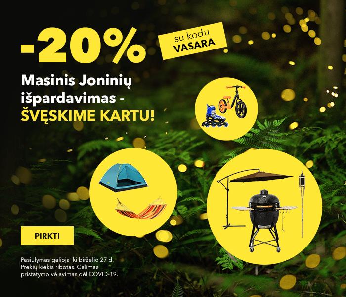 Masinis Joninių išpardavimas - švęskime kartu! -20% tūkstančiams prekių su kodu VASARA