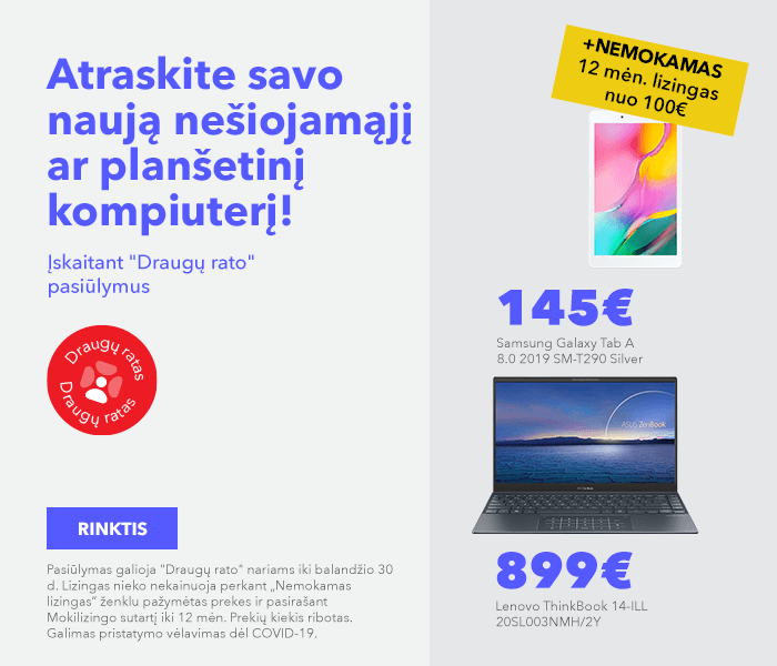 Atraskite savo naują nešiojamąjį ar planšetinį kompiuterį!