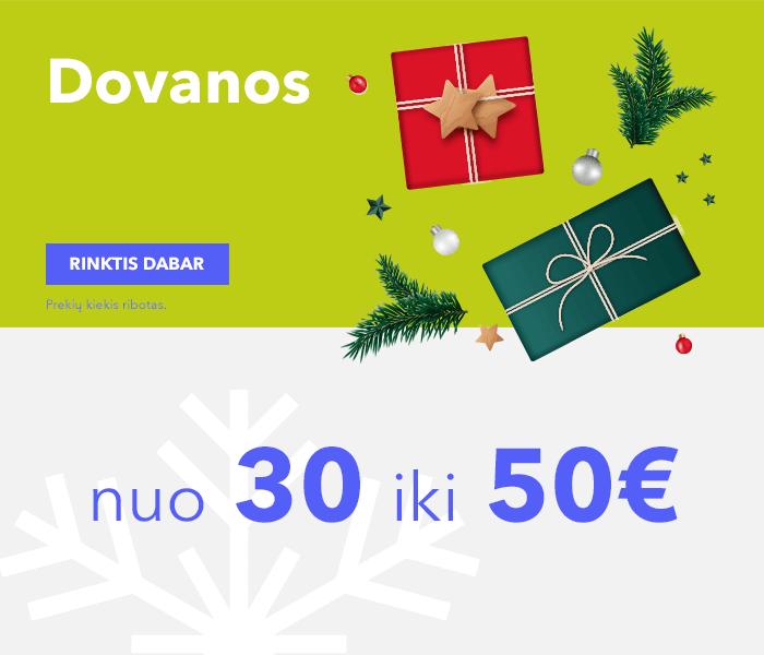 Dovanos nuo 30 iki 50 EUR
