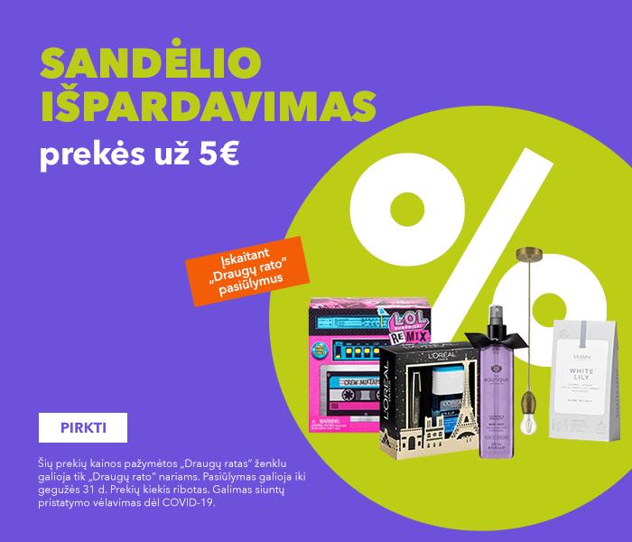 Sandėlio išpardavimas - prekės už 5 €