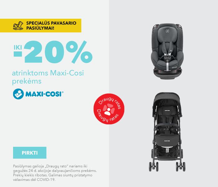 Specialūs pavasario pasiūlymai! iki -20% atrinktoms Maxi cosi prekėms