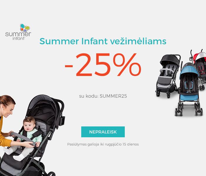 Summer Infant vežimėliams -25 %