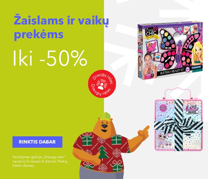 Iki -50% žaislams ir vaikų prekėms