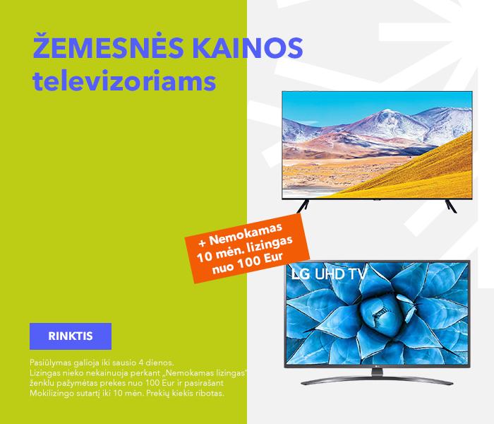 Žemesnės kainos televizoriams