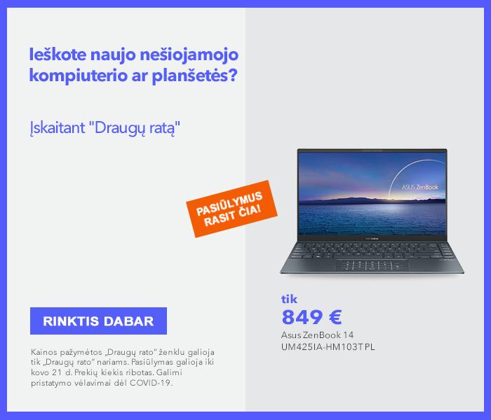 Ieškote naujo nešiojamojo kompiuterio ar planšetės? Pasiūlymus rasite čia!