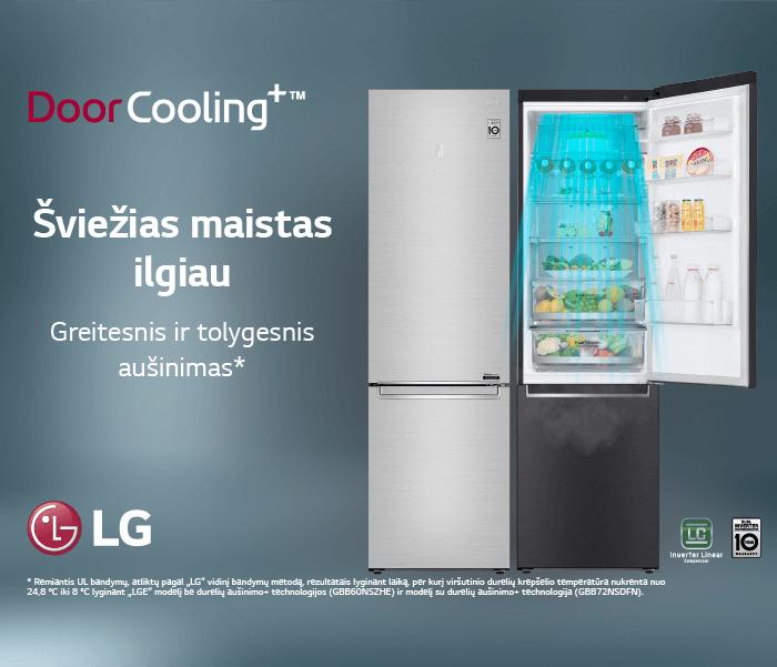 Šaldytuvai LG DoorCooling