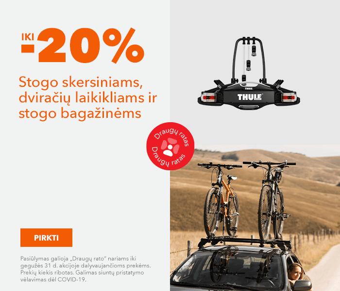 Stogo skersiniams, dviračių laikikliams ir stogo bagažinems iki -20%
