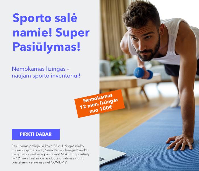 NAMŲ SPORTO SALĖS SUPER PASIŪLYMAS Įsigykite sporto inventorių su nemokamo lizingo pasiūlymu