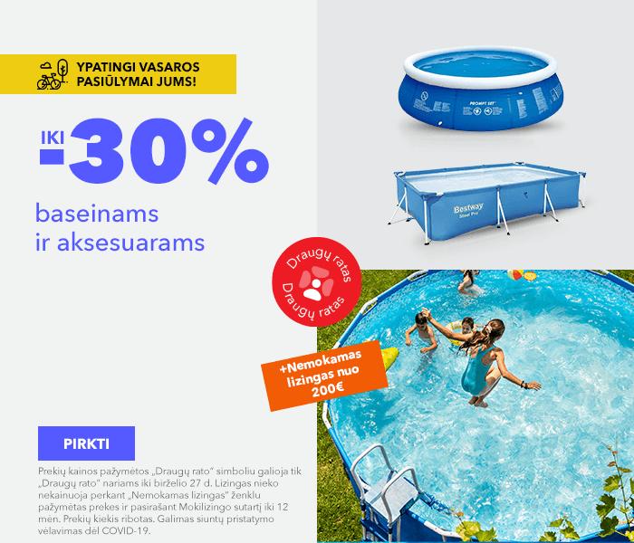 Ypatingi vasaros pasiūlymai Jums! iki -30% baseinams ir aksesuarams