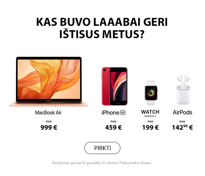 Apple Kalėdiniai pasiūlymai