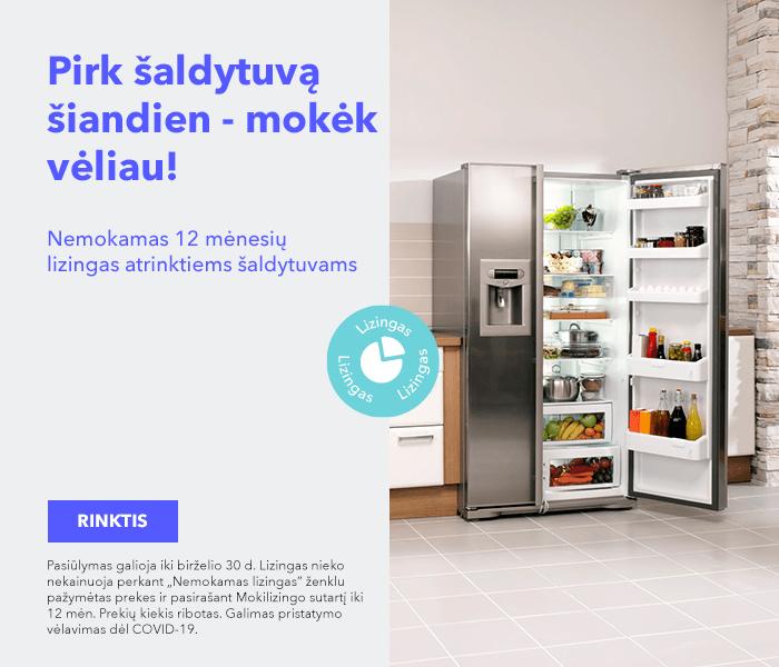 Pirk šaldytuvą šiandien - mokėk vėliau! Nemokamas 12 mėnesių lizingas atrinktiems šaldytuvams