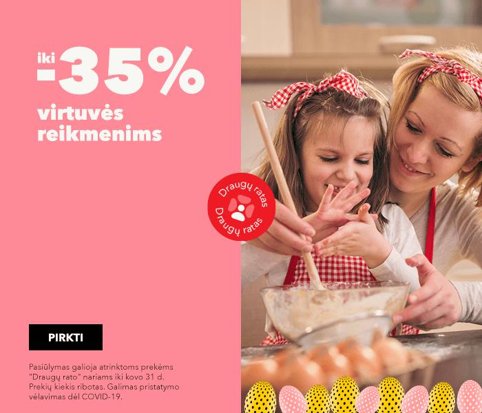 Pasiruoškite Velykoms su specialiais pasiūlymais iki -35% virtuvės reikmenims