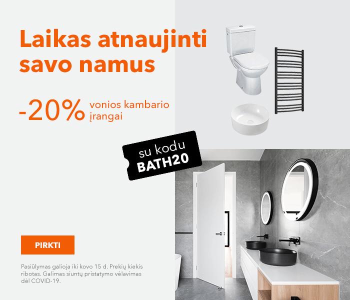 Laikas atnaujinti savo namus! -20% vonios kambario įrangai