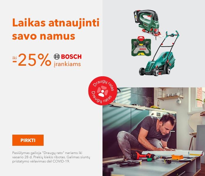 """Laikas atnaujinti savo namus iki -25% """"Bosch"""" įrankiams"""