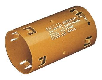 Drenāžas divpusējā savienotājuzmava Wavin D80mm, PVC