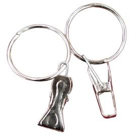 Vidutinis užuolaidų segtukas su žiedu