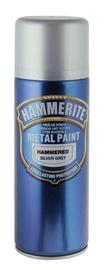 """AEROZOLINIAI METALO DAŽAI """"HAMMERED"""" (JUODI; 400 ml) (HAMMERITE)"""