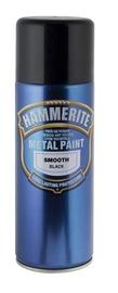"""AEROZOLINIAI METALO DAŽAI """"SMOOTH"""" (JUODI; 400 ml) (HAMMERITE)"""