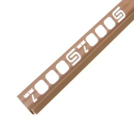 Plaadiliist 027008, 7 mm/2,5 m, karamellpruun
