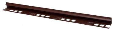 Plaadiliist 029009, sisenurk, 9 mm, 250 cm, helepruun