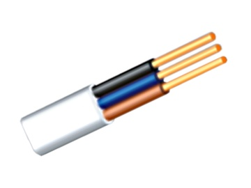 Kabelis BVV-P, 3 x 1,5 mm², plokščias