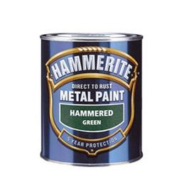 Metalo dažai Hammerite Hammered, juodi 750 ml