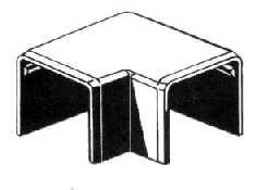 Kaablikarbiku nurgatükk Polyprofil UP40040, 40x40 mm